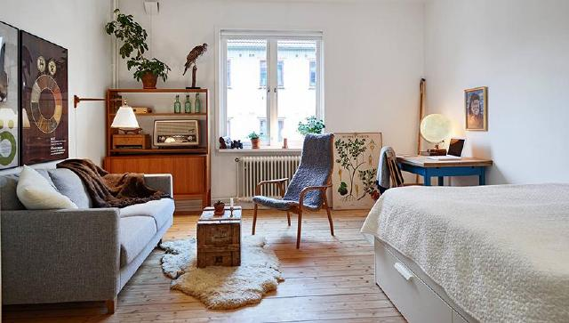 瑞典北欧复古风公寓