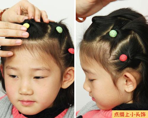 幼儿刘海编发教程图解