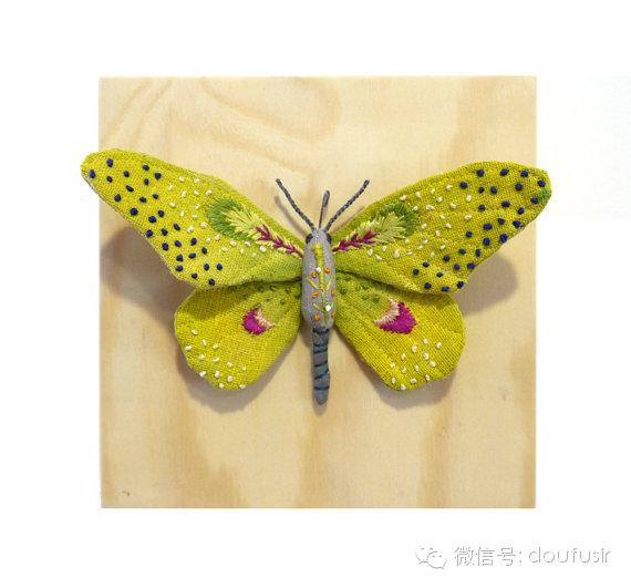 手工制作了许多飞蛾,蝴蝶以及其他的一些昆虫