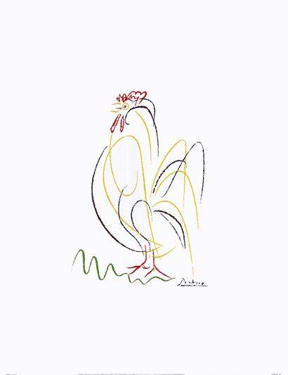 著名画家毕加索的简笔画作品