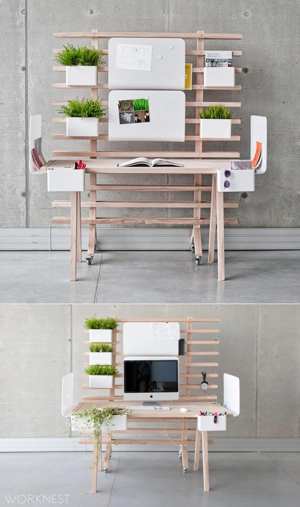 国外创意家庭办公桌设计