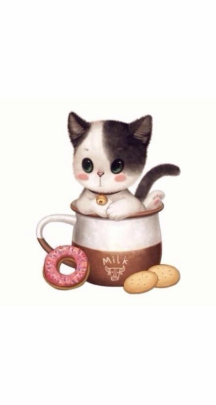 茶杯里的小萌猫