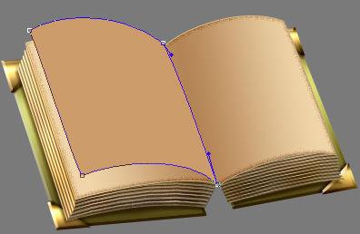 教你利用ps绘制精美的复古书本图标