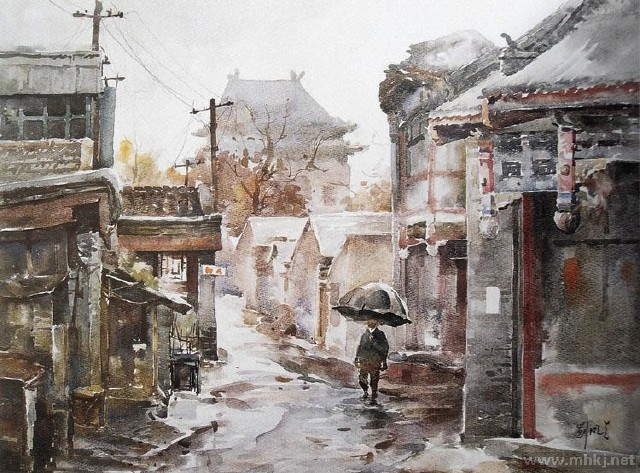 建筑语境--刘凤兰风景水彩写生作品欣赏-美术教育