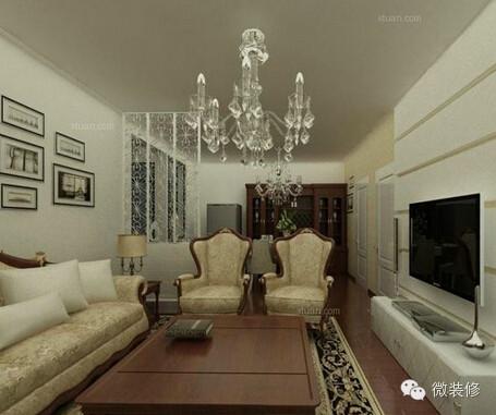 最新8款无吊顶造型设计客厅装修效果图