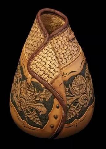 葫芦烙画牡丹图案素材展示