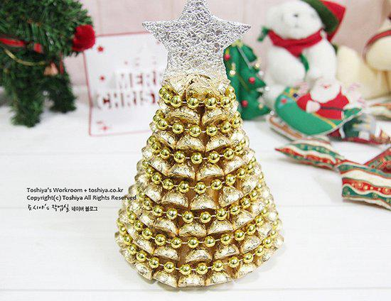 手工课:用巧克力diy漂亮圣诞树