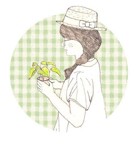 各种甜美可爱又文艺的小清新风格卡通女生头像