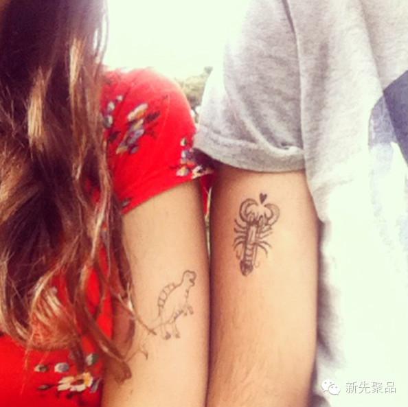 42款可爱又浪漫的情侣纹身