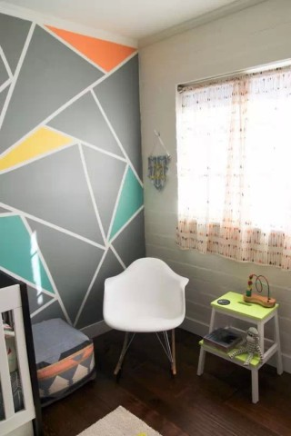 胶带贴墙几何设计图