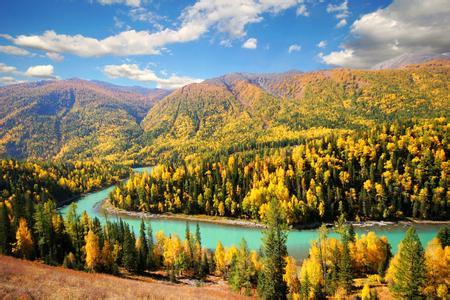 新疆秋天风景壁纸
