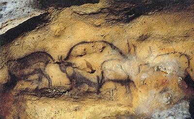 这些壁画中绘制的典型动物包括:野牛