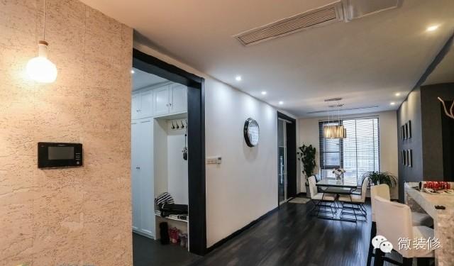 【软木地板装修效果图】170平现代简约黑白灰装修回忆