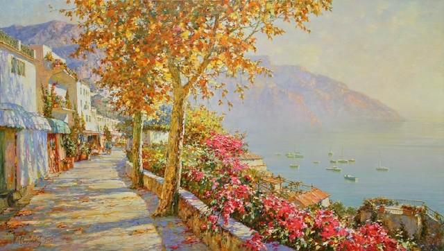 俄罗斯艺术家尤里奥布霍夫风景油画欣赏